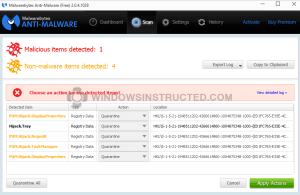 Malware Infected, Example How to Remove CrossRider