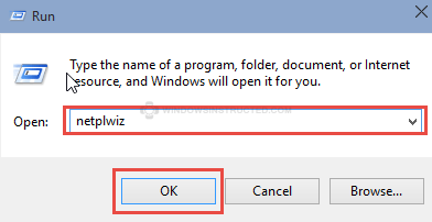 Run: Netplwiz Enable CTRL+ALT+DELETE Sign-in in Windows 10 ctrl+alt+delete sign-in