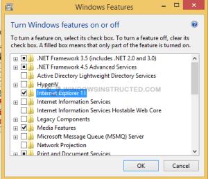 Windows features Internet Explorer Remove Internet Explorer from Windows Remove Internet Explorer from Windows