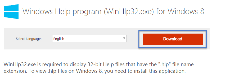Dowload Update How can I enable Legacy Windows Help system open hlp files in windows 8.1