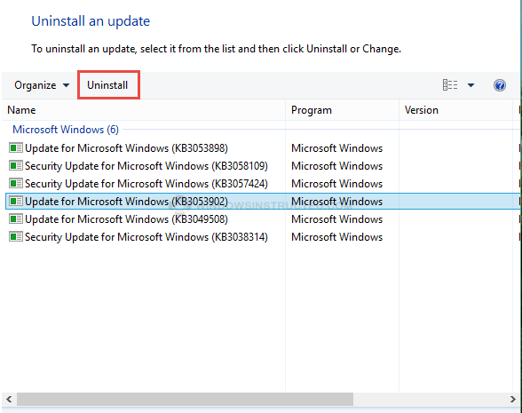 Remove an Update How to Remove an Update in Windows 10 remove an update