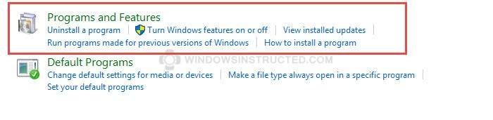 Programs and Features How to Remove Internet Explorer from Windows 10 remove internet explorer