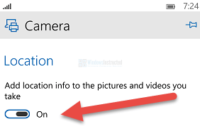 Windows 10 Mobile: Camera Location Info How to Enable / Disable Location Info in Pictures and Video's you Take location info