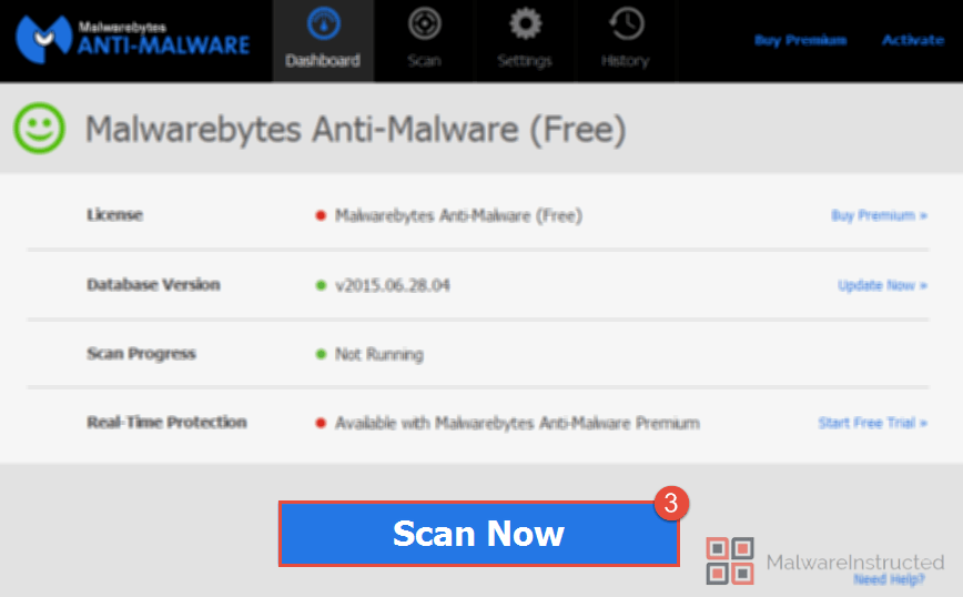 MalwareBytes Scan Now How to Remove Mywebsearch.com.au from your System? - Virus Removal Guide.