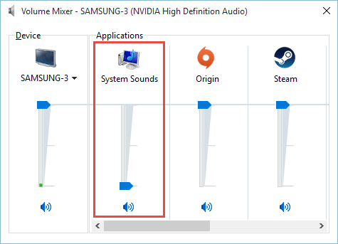 How Do I Disable / Enable System Sound Effects in Windows 10