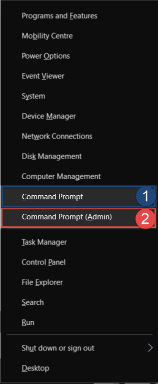 Start Command Prompt from Power Menu How to Start Command Prompt in Windows 10 start command prompt