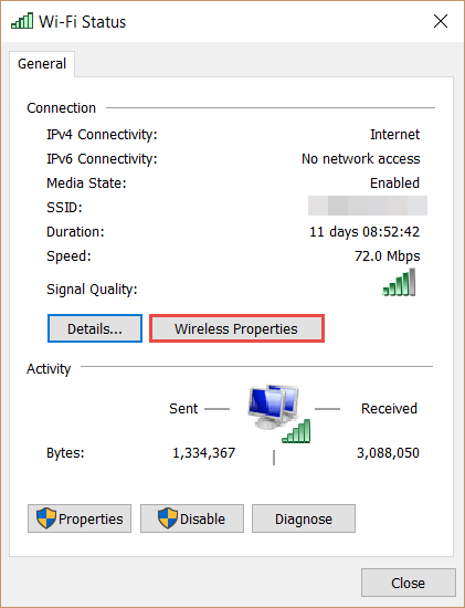 Network Properties How to Find the WiFi Password in Windows 10 wifi password