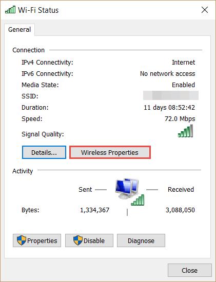 Network Properties How to Find the WiFi Password in Windows 10 wifi password