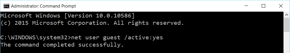 2016-01-15_23-25-21.png How to Enable or Disable the Guest Account in Windows 10 using Command Prompt Guest Account