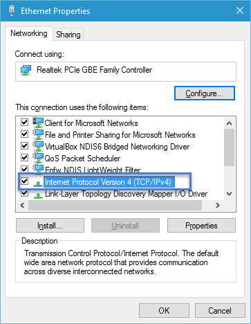 Ethernet Properties Windows 10 How to change DNS server address in Windows 10 and Windows 8? dns server address