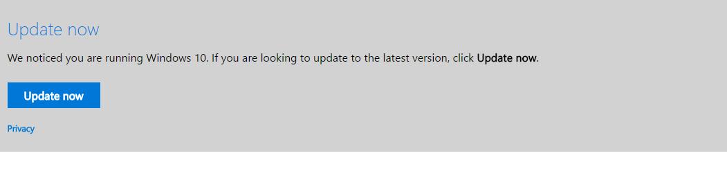 Windows Update can't find Windows 10 Anniversary Update