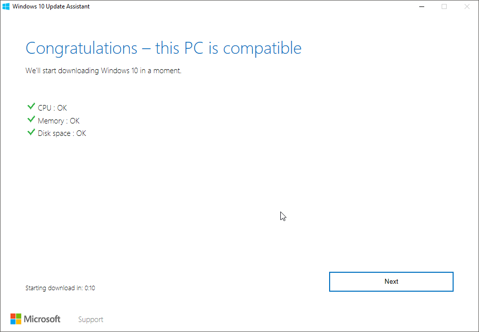 Windows Update can't find Windows 10 Anniversary Update
