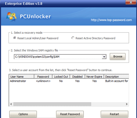 Review: Resetting lost Windows password easily with PCUnlocker lost Windows password