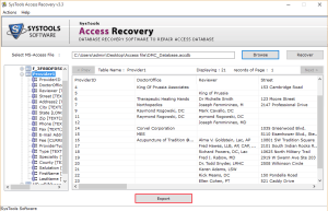 click Export Safest Way to Recover Corrupt Access Database File & Deleted Records