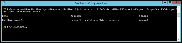 Import Specific Folder of PST Mailbox In Exchange 2010 – Import PST to Mailbox via PowerShell Command