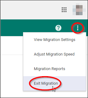 click on Exit Migration Best 2 Methods to Transfer G Suite Emails to Another Account / Domain