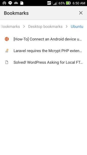 Bookmark di Android