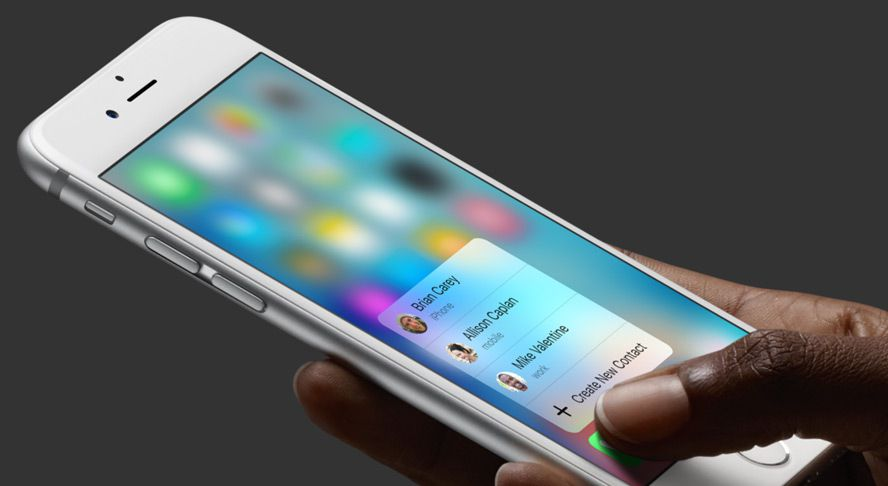 3D Touch di Apple iPhone 6S