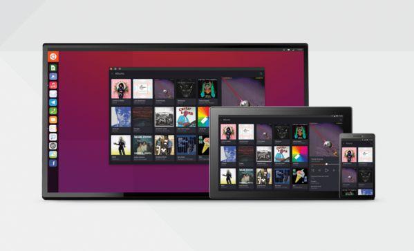 Unity 8 di Ubuntu 15.10 Wily Werewolf