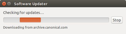 Ubuntu mencari update terbarunya