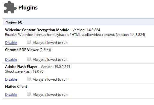 Cara menonaktifkan Plugin di Google Chrome