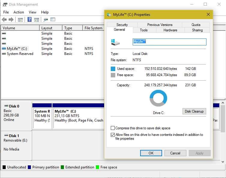 Disk Management Di Microsoft Windows