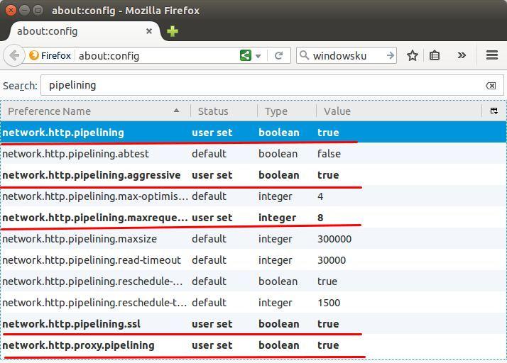 Cara mengkonfigurasi Pipeline di Firefox