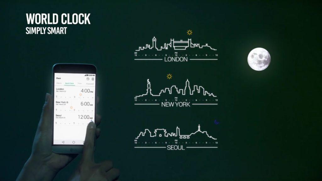 10. Smart Clock Di LG G5