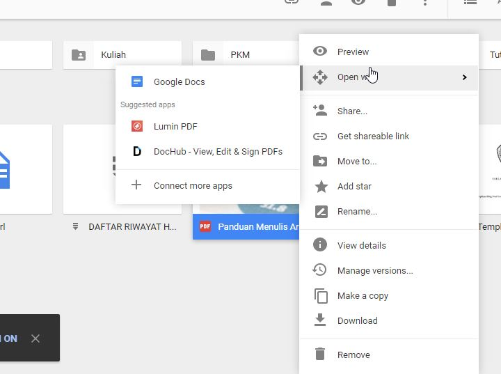 Membuka Dan Mengedit Pdf Di Google Drive