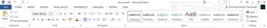 Ribbon Menu Di Office 2013