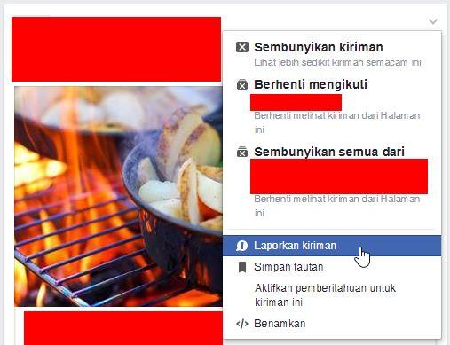 Melaporkan Berita Yang Tidak Semestinya Di Facebook