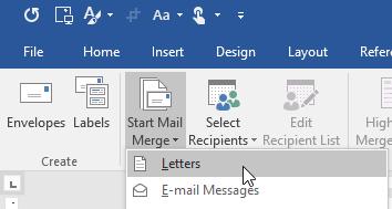 Memilih Jenis Mail Merge