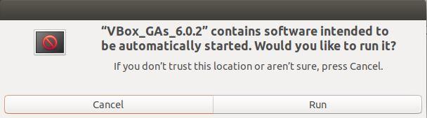 Konfirmasi Guest Addition Ubuntu Virtualbox