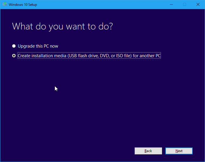 Memilih Opsi Instalasi Windows 10 Installer