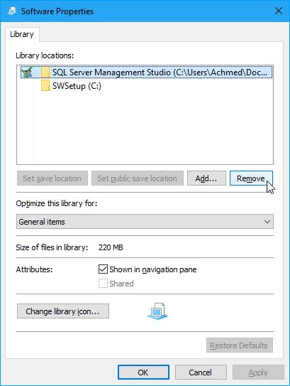 Menghapus Direktori Folder Di Library Windows