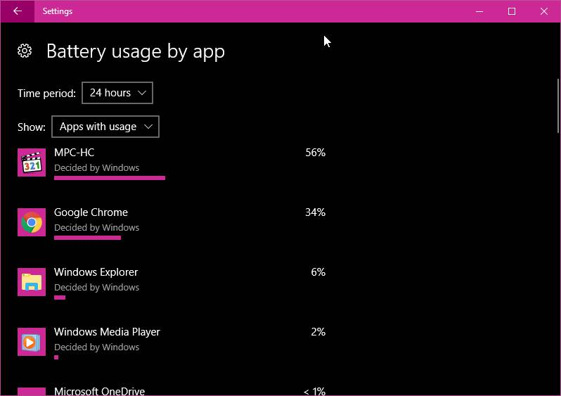 Penggunaan Baterai Di Windows 10