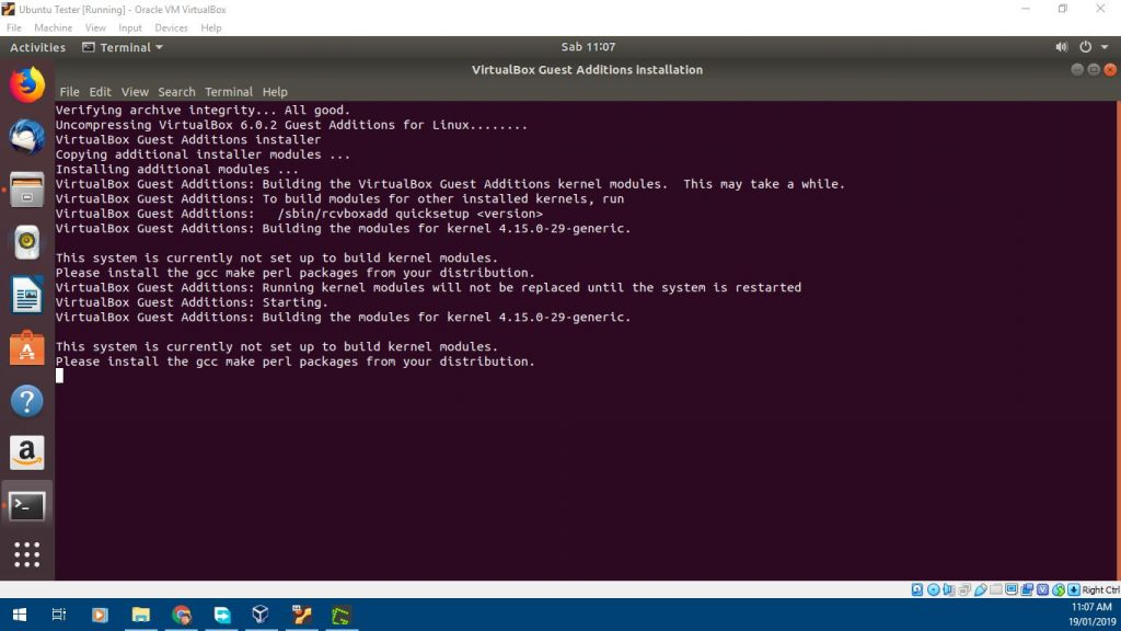 Proses Instalasi Guest Addition Ubuntu Virtualbox