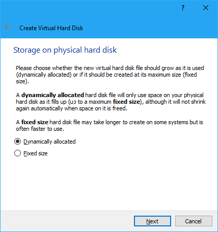Ukuran Hard Disk Virtual Virtualbox