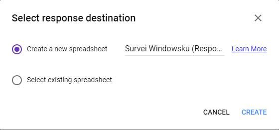 Destinasi Google Sheet Di Google Form