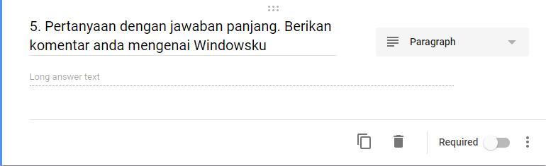 Google Form Jawaban Panjang