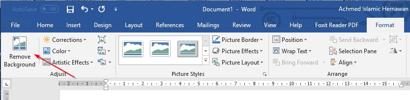 Tombol Remove Background Microsoft Word