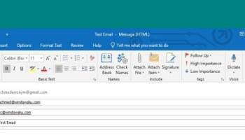 Cara Menggunakan Outlook Header