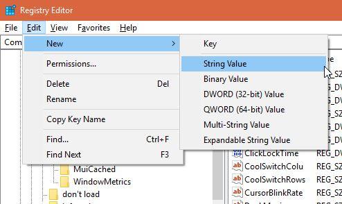 Menambah Value Nilai Registry Editor