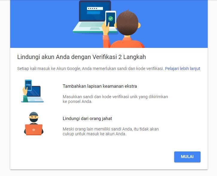 Mulai Mengatur Verifikasi 2 Langkah Google Account