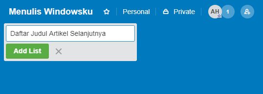 Membuat List Trello 2