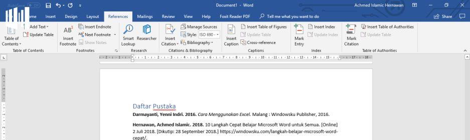 Cara Membuat Daftar Pustaka Otomatis Di Microsoft Word Windowsku