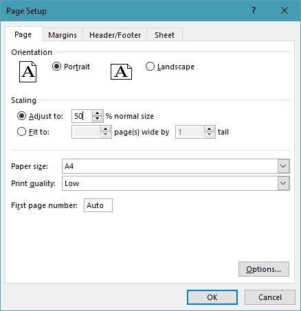 Mengatur Scaling Manual Excel