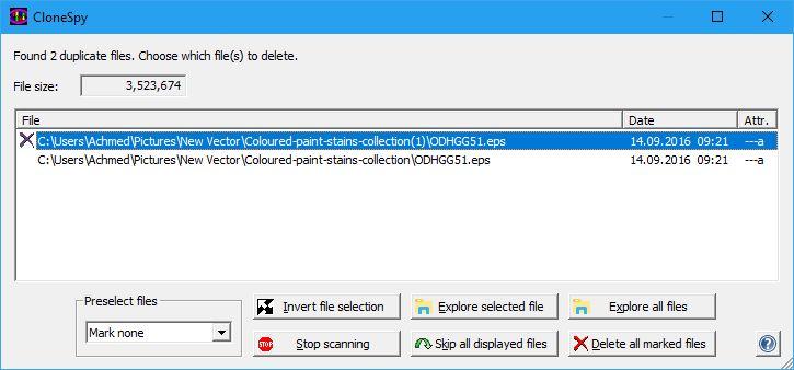 Menghapus File Duplikat Clonespy