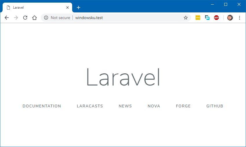 Hasil Instalasi Laravel Dengan Laragon
