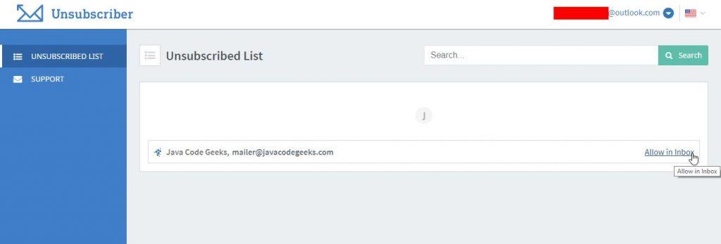 Mengizinkan Berlangganan Email Unsubscriber